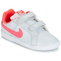 Chaussures Air max tnFille Baskets basses Nike COURT ROYALE TODDLER Gris / Rose