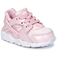 Chaussures Air max tnFille Baskets basses Nike HUARACHE RUN SE TODDLER Rose