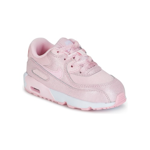 Chaussures Air max tnFille Baskets basses Nike AIR MAX 90 MESH SE TODDLER Rose