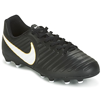 Chaussures Air max tnEnfant Football Nike TIEMPO RIO IV FG JUNIOR Noir / Blanc
