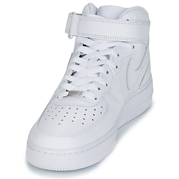 Nike AIR FORCE 1 MID 07 LEATHER Blanc