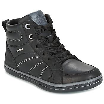 Chaussures Garçon Baskets montantes Geox J GARCIA B. B Noir / Gris