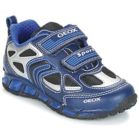 Chaussures Garçon Baskets basses Geox J SHUTTLE B. A Marine / Bleu