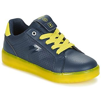 Chaussures Garçon Baskets basses Geox J KOMMODOR B.B Marine / Jaune