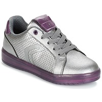 Chaussures Fille Baskets basses Geox J KOMMODOR G.A Argenté / Prune