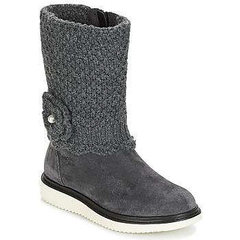 Chaussures Fille Bottes ville Geox J THYMAR G. F Gris