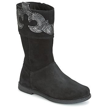 Chaussures Fille Bottes ville Geox J SHAWNTEL G. C Noir