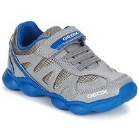 Chaussures Garçon Baskets basses Geox J MUNFREY B. A Gris / Bleu