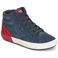 Chaussures Garçon Baskets montantes Geox J ALONISSO B. A Marine / Rouge