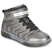 Chaussures Garçon Baskets montantes Geox J ARGONAT B. B Noir