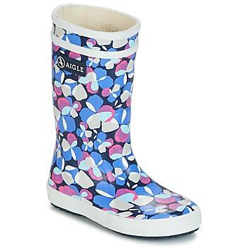 Chaussures Fille Bottes de pluie Aigle LOLLY POP GLITTERY Bleu