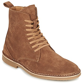 Chaussures Homme Boots Selected ROYCE HIGH Cognac