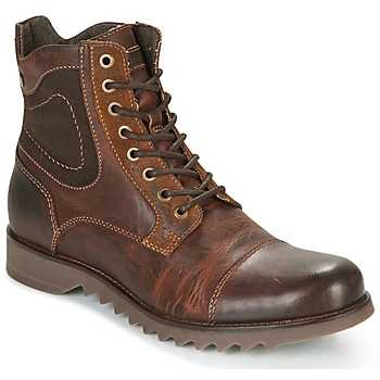 Chaussures Homme Boots Jack & Jones DEAN LEATHER Marron