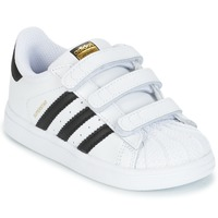 Chaussures Enfant Baskets basses adidas Originals SUPERSTAR CF I Blanc / Noir