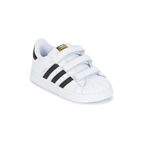 064daa0a2ca09 Chaussures Enfant Baskets basses adidas Originals SUPERSTAR CF I Blanc    noir