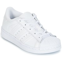 Chaussures Fille Baskets basses adidas Originals SUPERSTAR Blanc