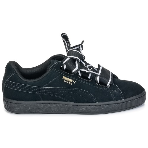 Puma Basket Heart Satin Noir