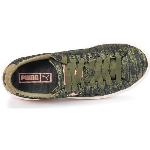 Puma Basket Platform Bi Color Kaki