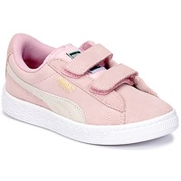 Chaussures Air max tnFille Baskets basses Puma SUEDE 2 STRAPS PS Rose