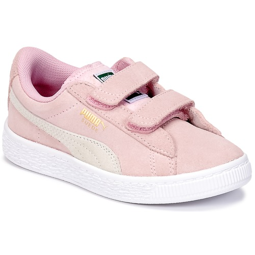 Chaussures Fille Baskets basses Puma SUEDE 2 STRAPS PS Rose