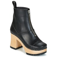 Chaussures Femme Bottines Swedish hasbeens GRUNGE BOOT BLACK Noir