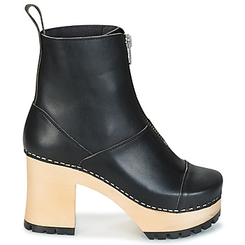 Bottines Swedish hasbeens GRUNGE BOOT BLACK