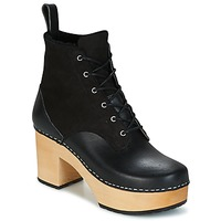 Chaussures Air max tnFemme Bottines Swedish hasbeens HIPPIE LACE UP Noir