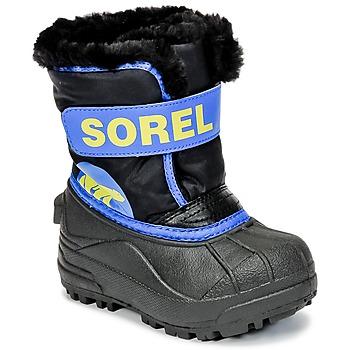 Chaussures Enfant Bottes de neige Sorel CHILDRENS SNOW COMMANDER Noir / Bleu