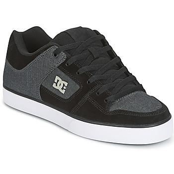 Chaussures Homme Chaussures de Skate DC Shoes PURE SE Noir / Gris