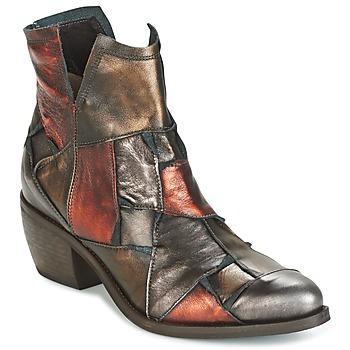Chaussures Femme Boots Dkode JOELLE-MULTICOLORE-029 Marron