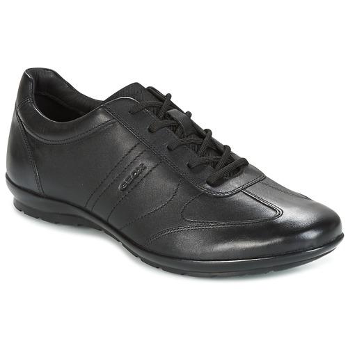 Geox U SYMBOL A Gris / Noir - Livraison Gratuite avec - Chaussures Baskets basses Homme