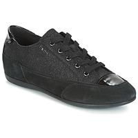 Chaussures Femme Baskets basses Geox D NEW MOENA Noir