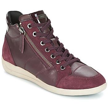 Chaussures Femme Baskets montantes Geox D MYRIA Bordeaux