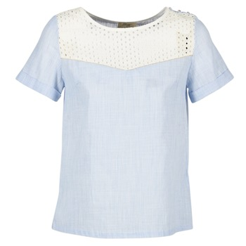 Vêtements Femme Tops / Blouses Betty London GERMA Blanc / Bleu