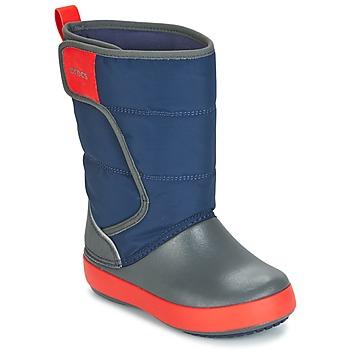 Chaussures Enfant Bottes de neige Crocs LODGEPOINT SNOW BOOT K Marine