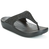 Chaussures Femme Tongs Crocs SLOANE Noir