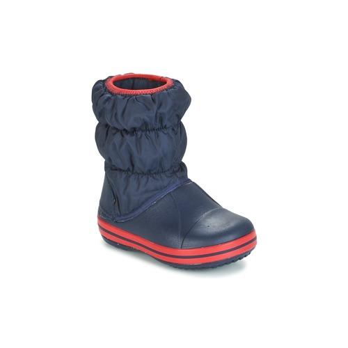 Chaussures Garçon Bottes de neige Crocs WINTER PUFF BOOT KIDS Marine