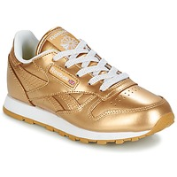 Chaussures Fille Baskets basses Reebok Classic CLASSIC LEATHER MET Doré