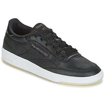 Chaussures Air max tnFemme Baskets basses Reebok Classic CLUB C 85 LTHR Noir