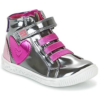 Chaussures Fille Baskets montantes Agatha Ruiz de la Prada FLOW Argent