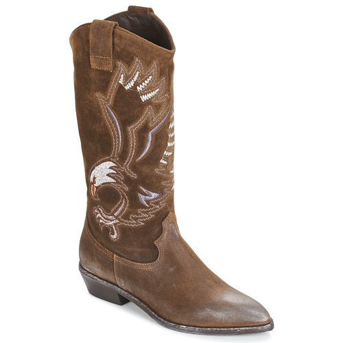 Chaussures Femme Bottes ville Now SATURNA Marron