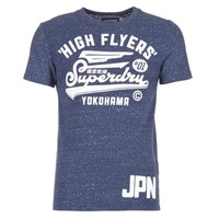 Vêtements Homme T-shirts manches courtes Superdry HIGH FLYERS REWORKED Marine