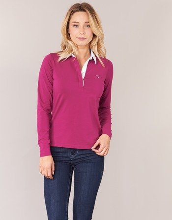 Gant SOLID JERSEY LS RUGGER Rose
