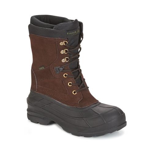 Chaussures Homme Bottes de neige KAMIK NATION PLUS Marron foncé