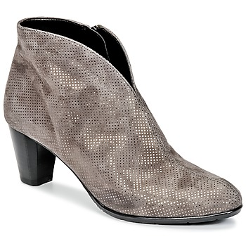Chaussures Femme Bottines Ara MORTAD Gris / Argent
