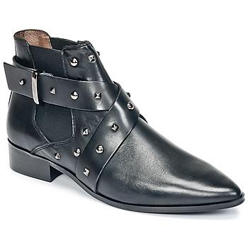 Chaussures Femme Boots Ikks LOW BOOTS BRIDGE ROCK Noir