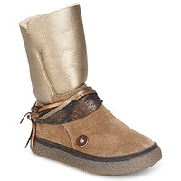 Chaussures Fille Bottes ville Catimini ROUGEGEORGE Taupe cuivré
