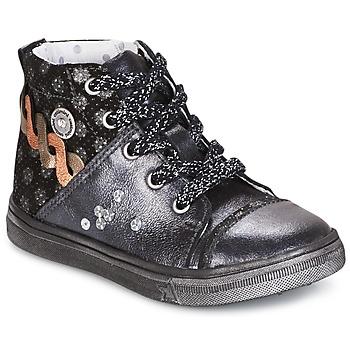 Chaussures Fille Boots Catimini ROUSSEROLLE Gris / Argenté
