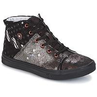 Chaussures Fille Boots Catimini ROUSSEROLLE Noir / Cuivre