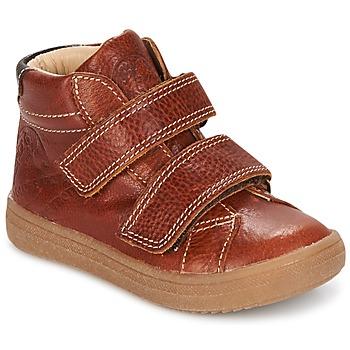 Chaussures Garçon Baskets montantes GBB NAZAIRE Fauve